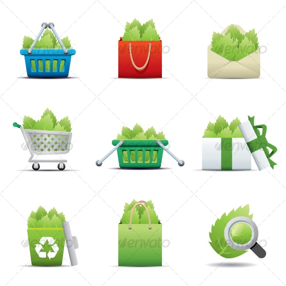 ECO Icon -- Leaf Saving - Seasonal Icons
