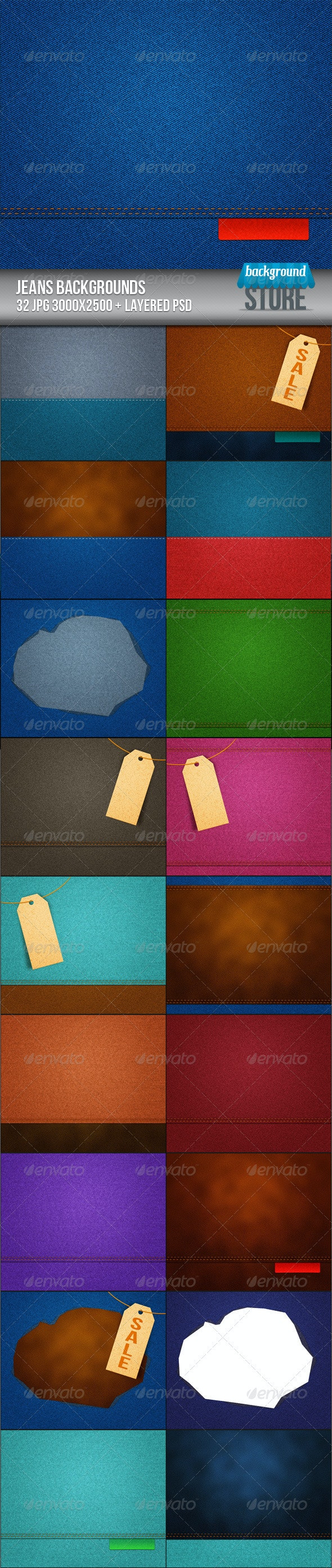 Jeans Backgrounds Texture - Miscellaneous Backgrounds