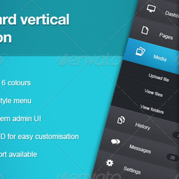Dashboard Vertical Navigation