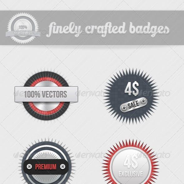 Finely Crafted Badges - V2