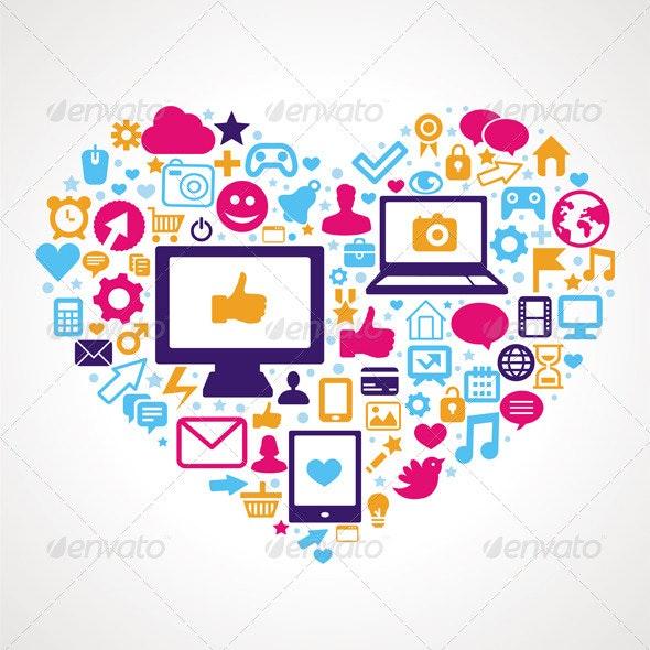 Vector social media concept  - Technology Conceptual