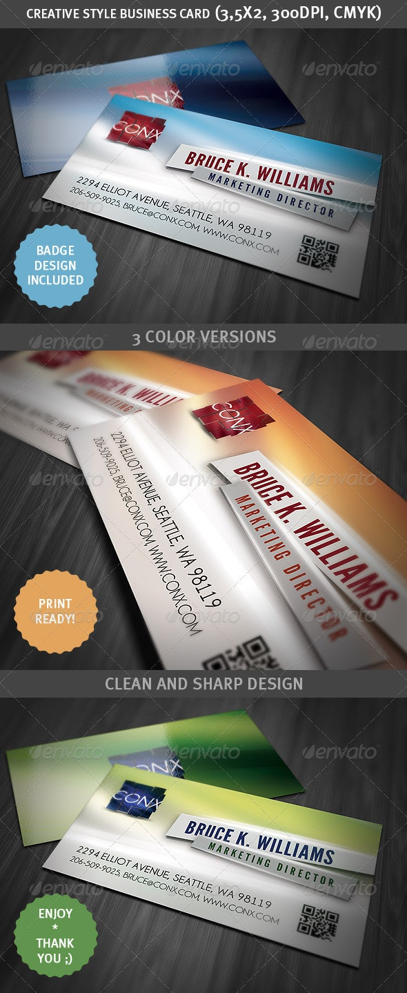 Creative Style Business Card Template - Creative Business Cards