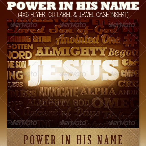 Power in His Name Church Flyer and CD Template