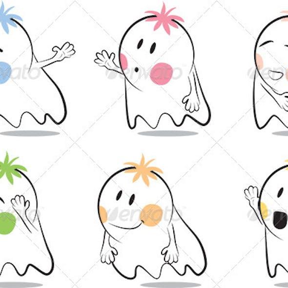 Baby Ghost Cartoon
