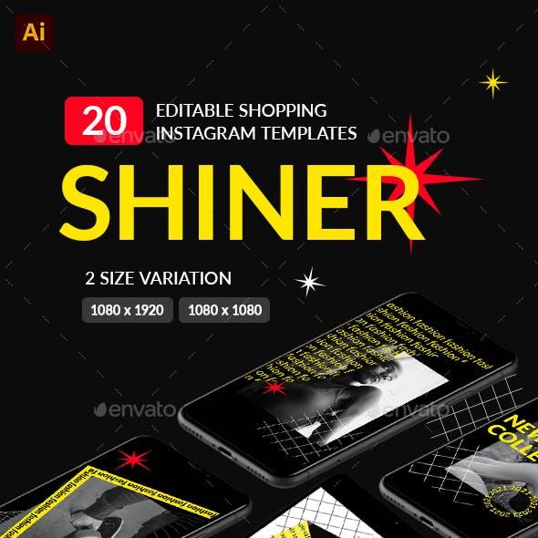 SHINER – 20 Instagram Templates