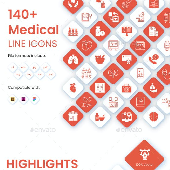 Set of Medical Icons Pack