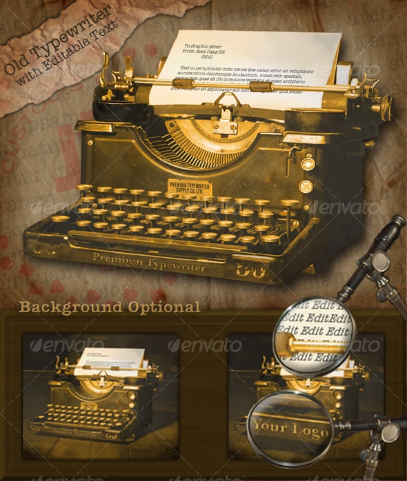 Old Typewriter - Backgrounds Decorative