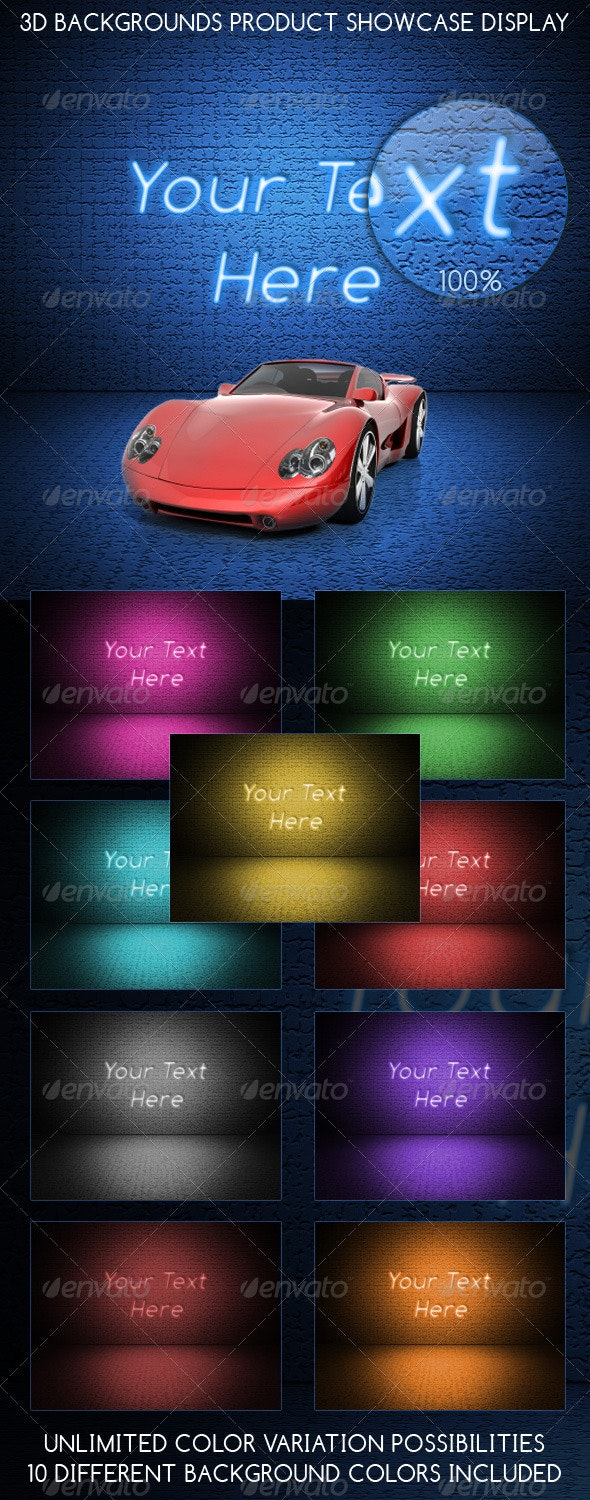3D Backgrounds Product Showcase Display - Backgrounds Graphics