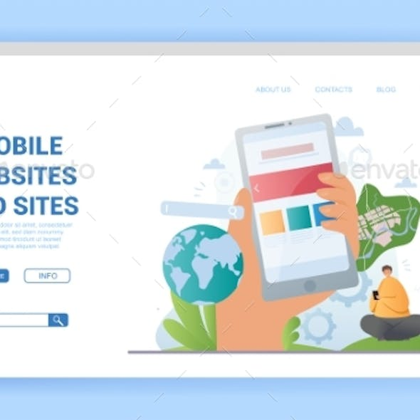 Mobile Websites and Sites Landing Page with Globe