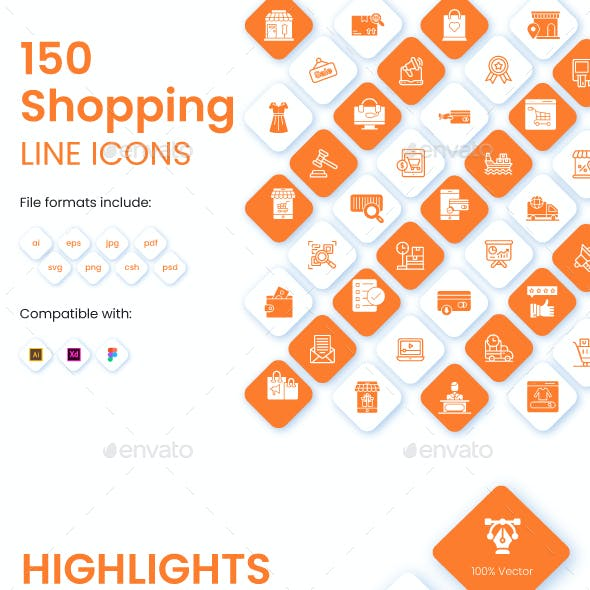 Set of Shopping and Commerce Icons