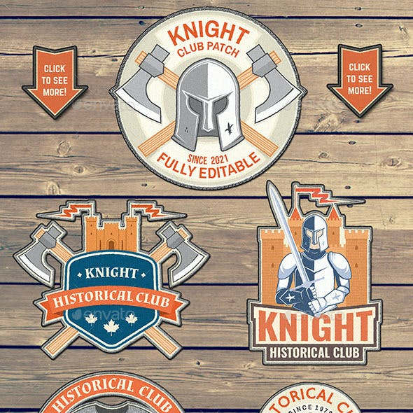 Knight Historical Club Patches