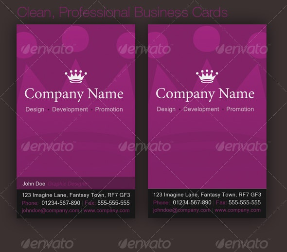 Clean, Elegant Business Card - Corporate Business Cards
