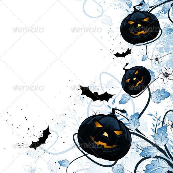 Grungy Halloween Florals - Halloween Seasons/Holidays