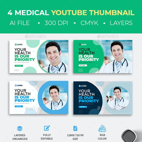 Medical Healthcare YouTube Thumbnail Template