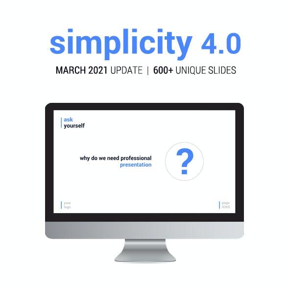 Simplicity 4.0 – Premium PowerPoint Presentation Template