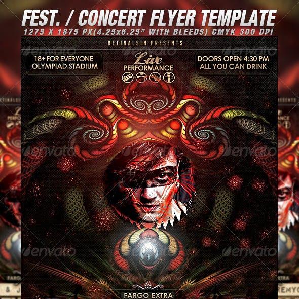 Fest. / Concert Flyer Template