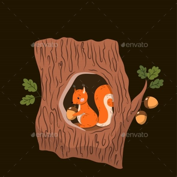 Woodland or Forest Creatures Poster Design
