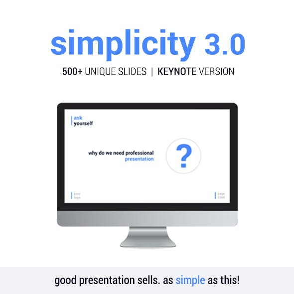 Simplicity v3.0 – Premium and Easy to Edit Keynote Template