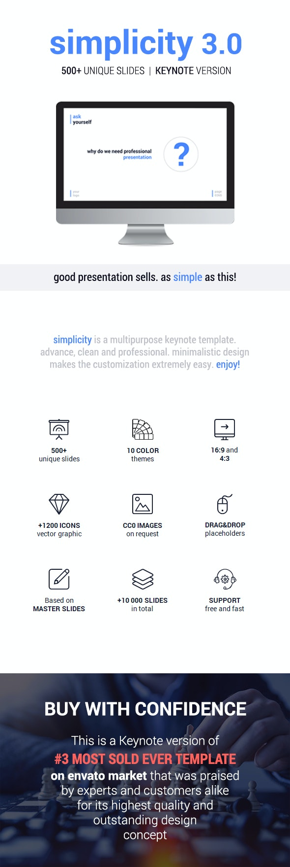 Simplicity v3.0 – Premium and Easy to Edit Keynote Template - Business Keynote Templates