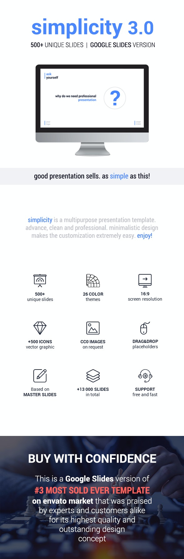 Simplicity – Premium and Easy to Edit Template - Google Slides - Google Slides Presentation Templates