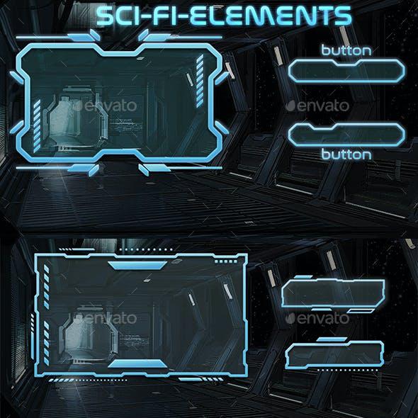 Sci-Fi UI Elements