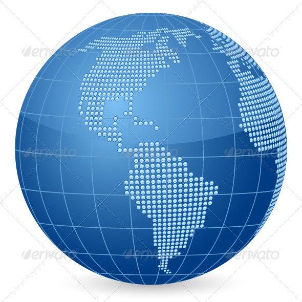 World globe dot - Conceptual Vectors