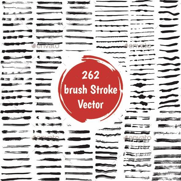 262 Brush Strokes Vector Set