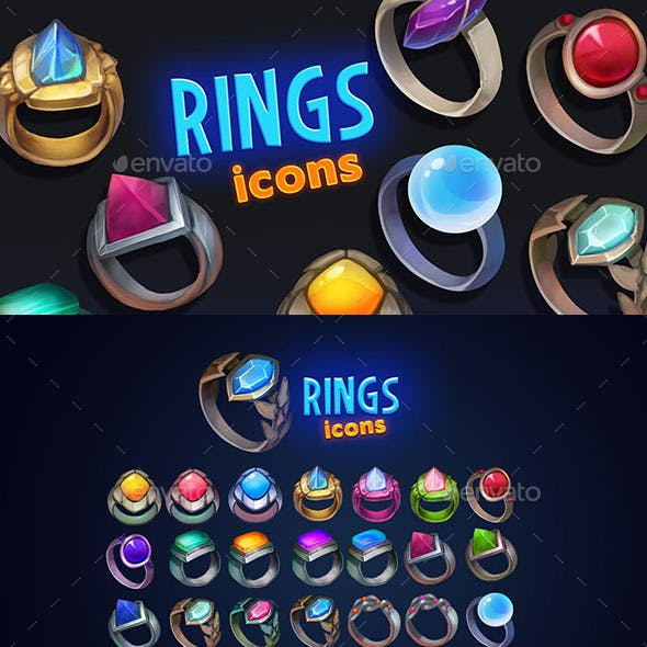 Rings Icons Pack