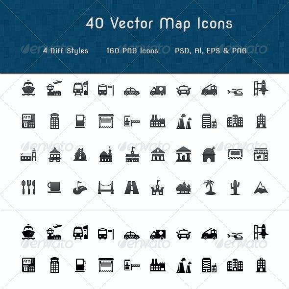 Map Symbols Icons