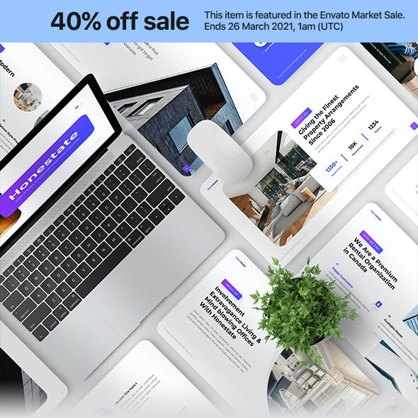 Honestate - Single Property & Real Estate PowerPoint Template