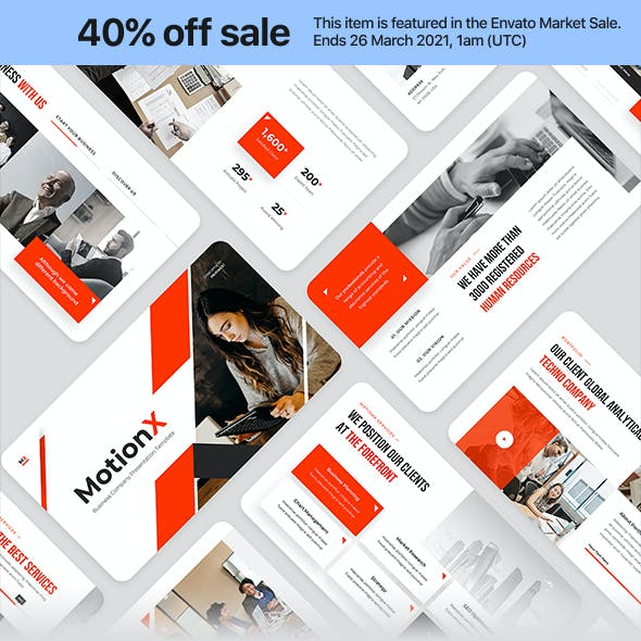 MotionX - Corporate Business PowerPoint Presentation Template