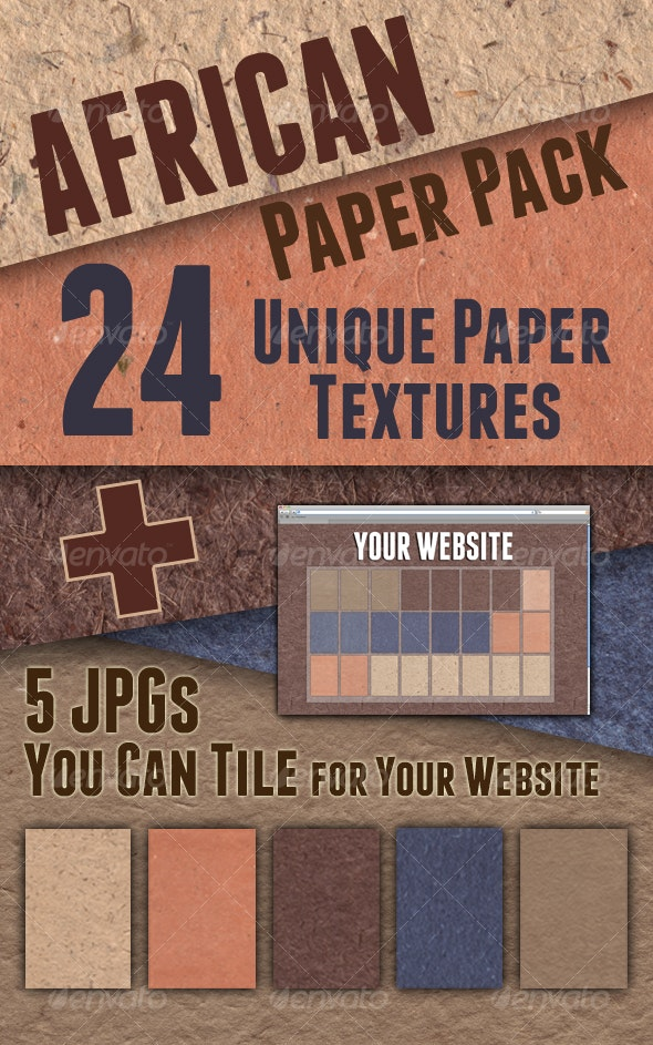African Paper Pack  - Paper Textures