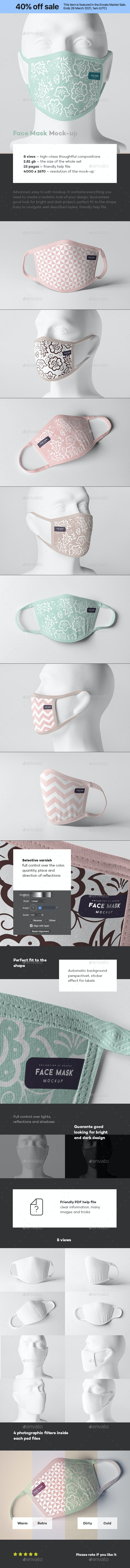 Face Mask Mock-up - Miscellaneous Apparel