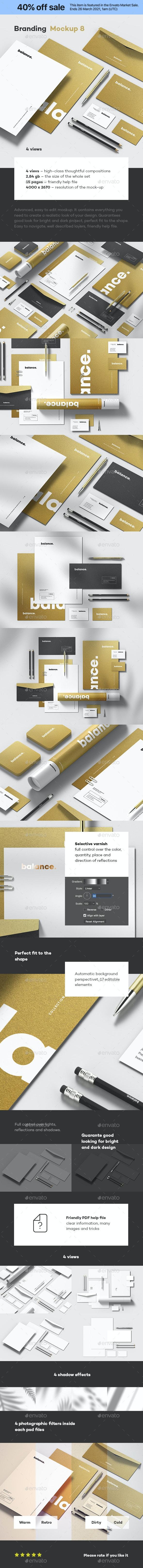 Branding Identity Mock-up 8 - Stationery Print