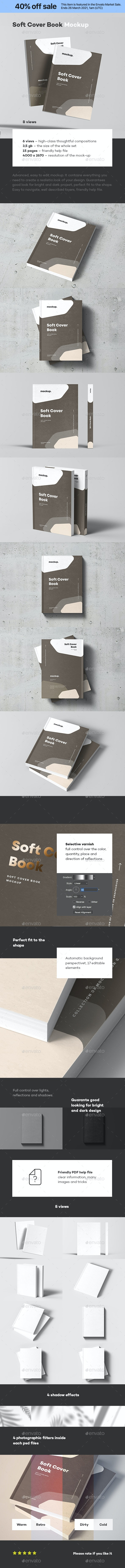 Soft Cover Book Mock-up - Books Print