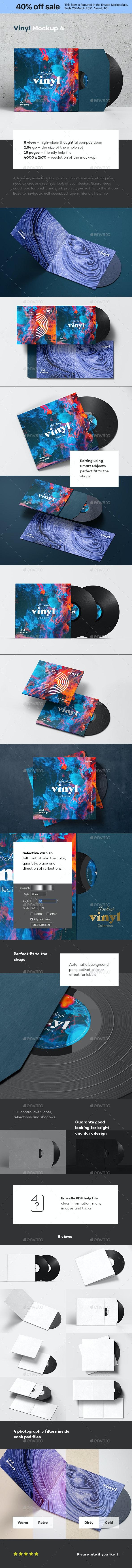 Vinyl Mock-up 4 - Discs Packaging
