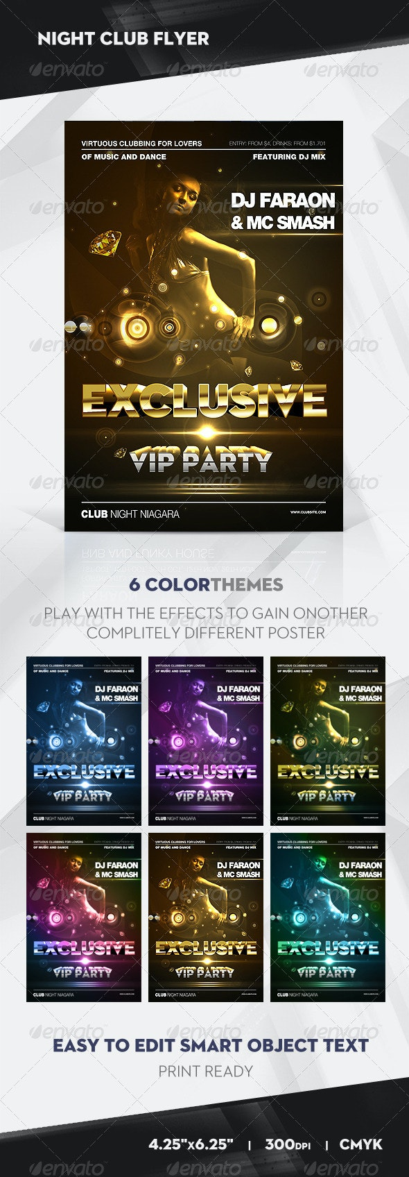 Exclusive VIP Party Flyer / Poster - Clubs & Parties Events