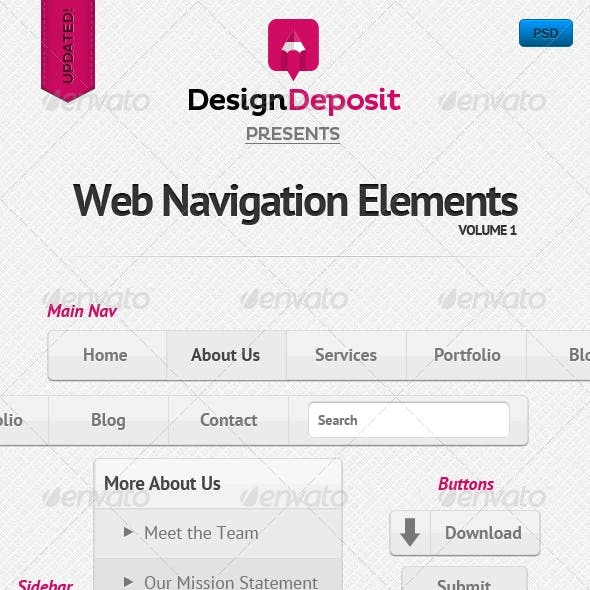 Clean Web Navigation Elements