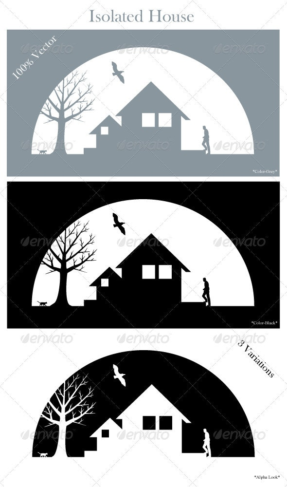 Isolated House - Scenes Illustrations