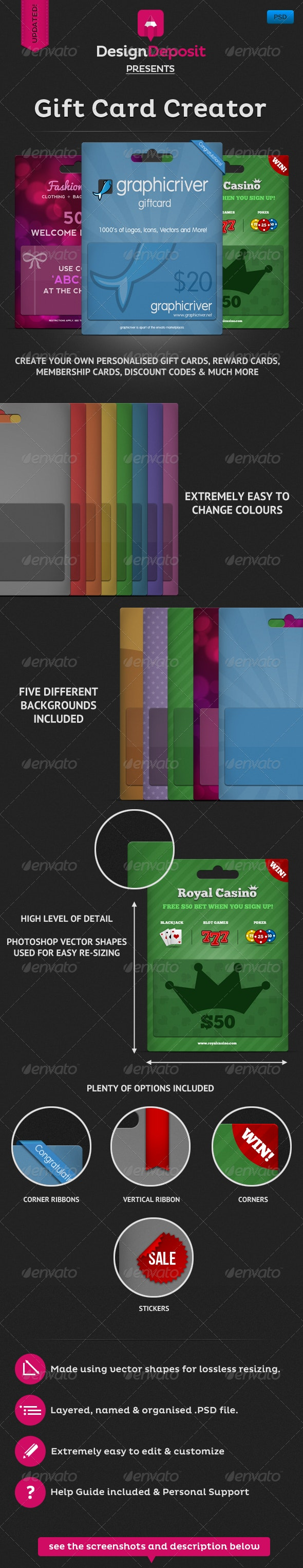 Giftcard Creator - Miscellaneous Packaging