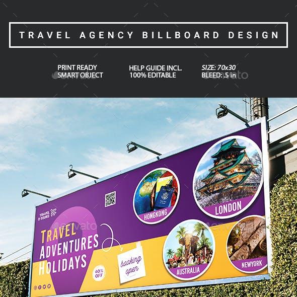 Travel Agency Billboard Signage Design