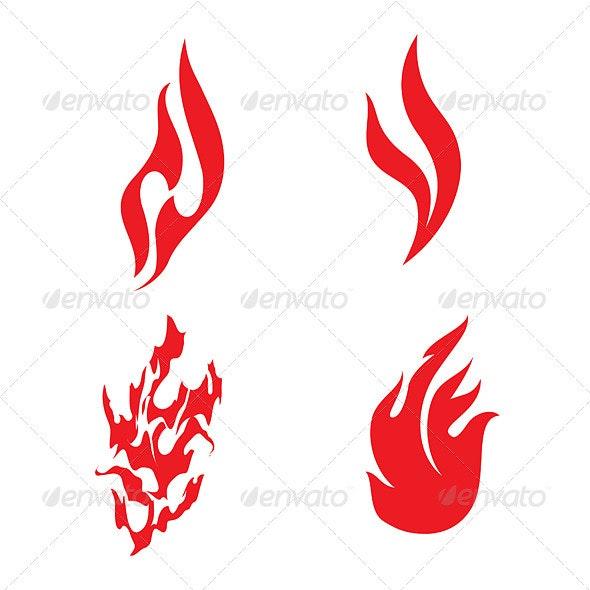 Fire Icons - Decorative Symbols Decorative