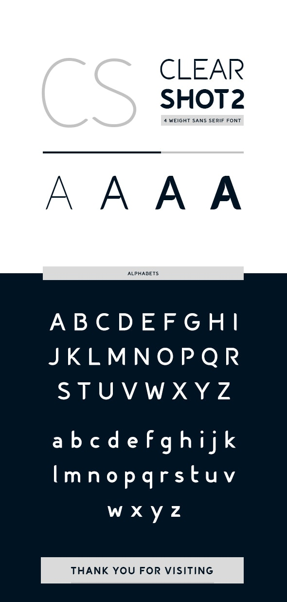Clear Shot 2 Font - Sans-Serif Fonts