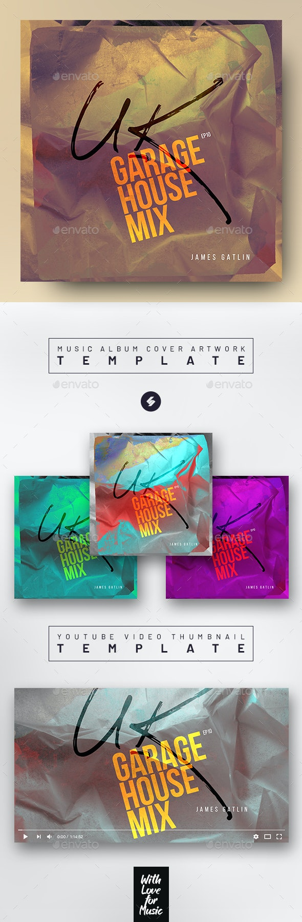Garage House Music 10 – Album Cover Artwork Template - Miscellaneous Social Media