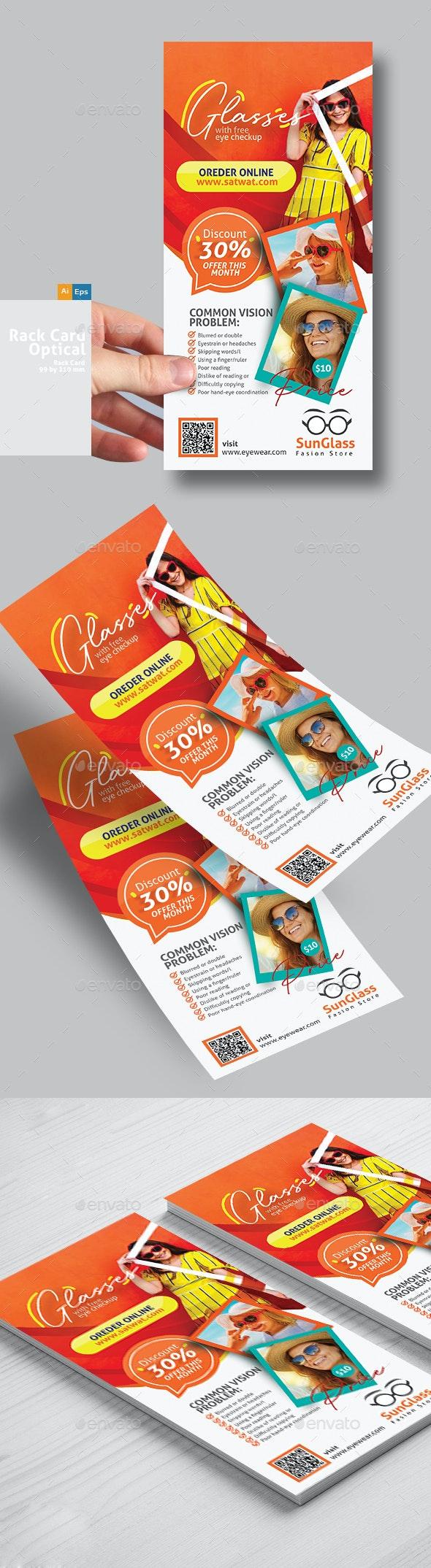 SunGlasses Fashion Store Rack Card Template - Flyers Print Templates