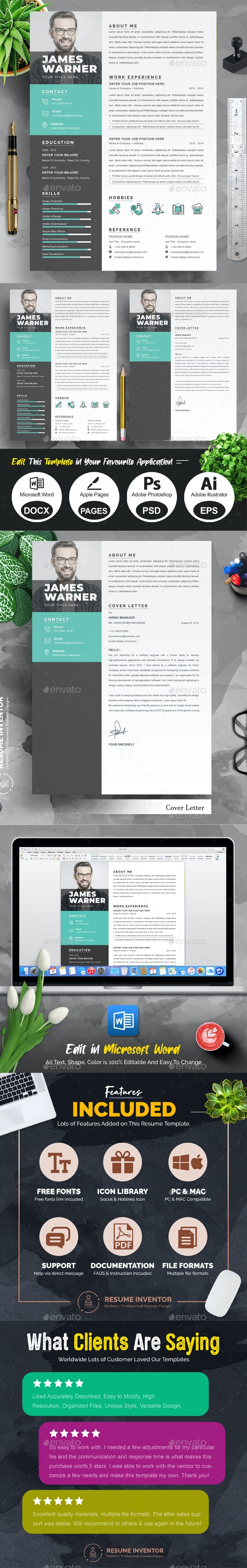 Resume Template/CV Template - Resumes Stationery