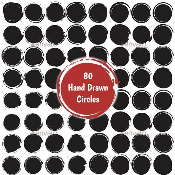 80 Hand Made Grunge Circles Set
