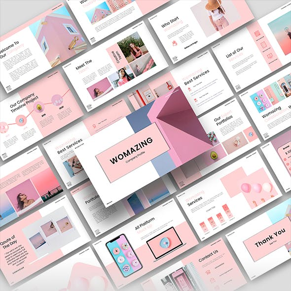 Womazing - Company Profile PowerPoint Template