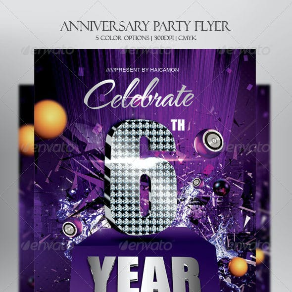 Anniversary Party Invitations Flyer