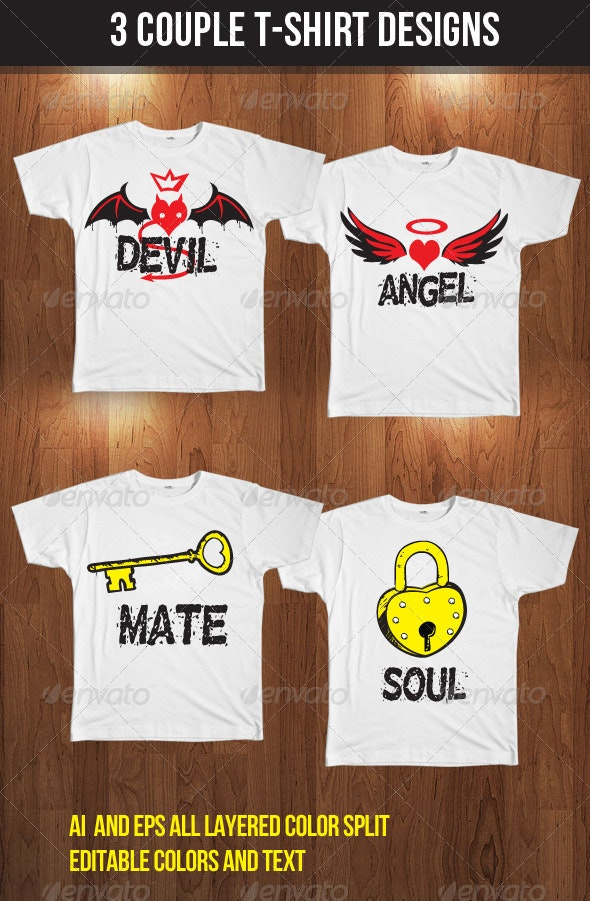Couple T-Shirt - Funny Designs